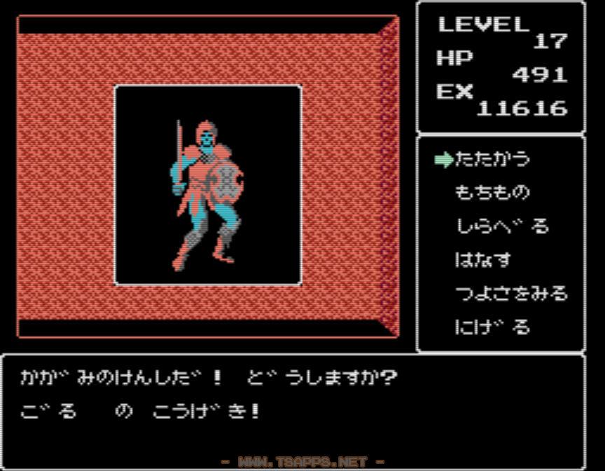 地下4階に登場!鏡の剣士