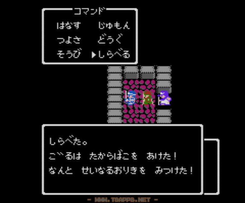 牢屋の中には聖なる織機があります