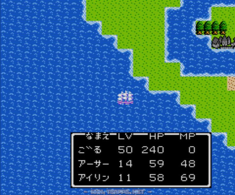 一度ベラヌールへルーラ!今度は船でベラヌールの南に伸びる半島から西方向へ