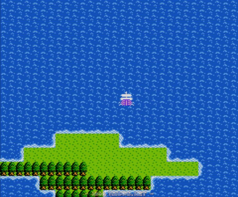 炎のほこら近くにあるこの島から真っ直ぐ北上!