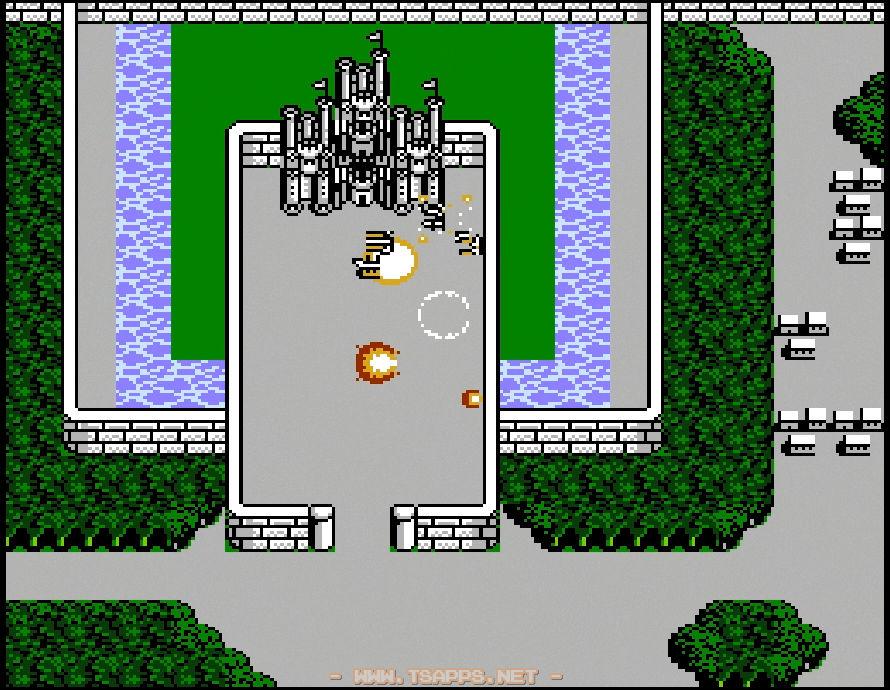 お城の近くに移動すると大砲の弾が飛んできて墜落