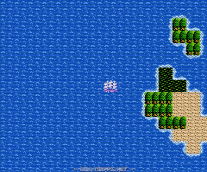 この島から真っ直ぐ西方向へ