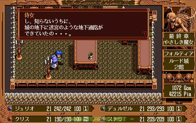 侍女から城の地下に迷宮のような通路ができていたという情報が