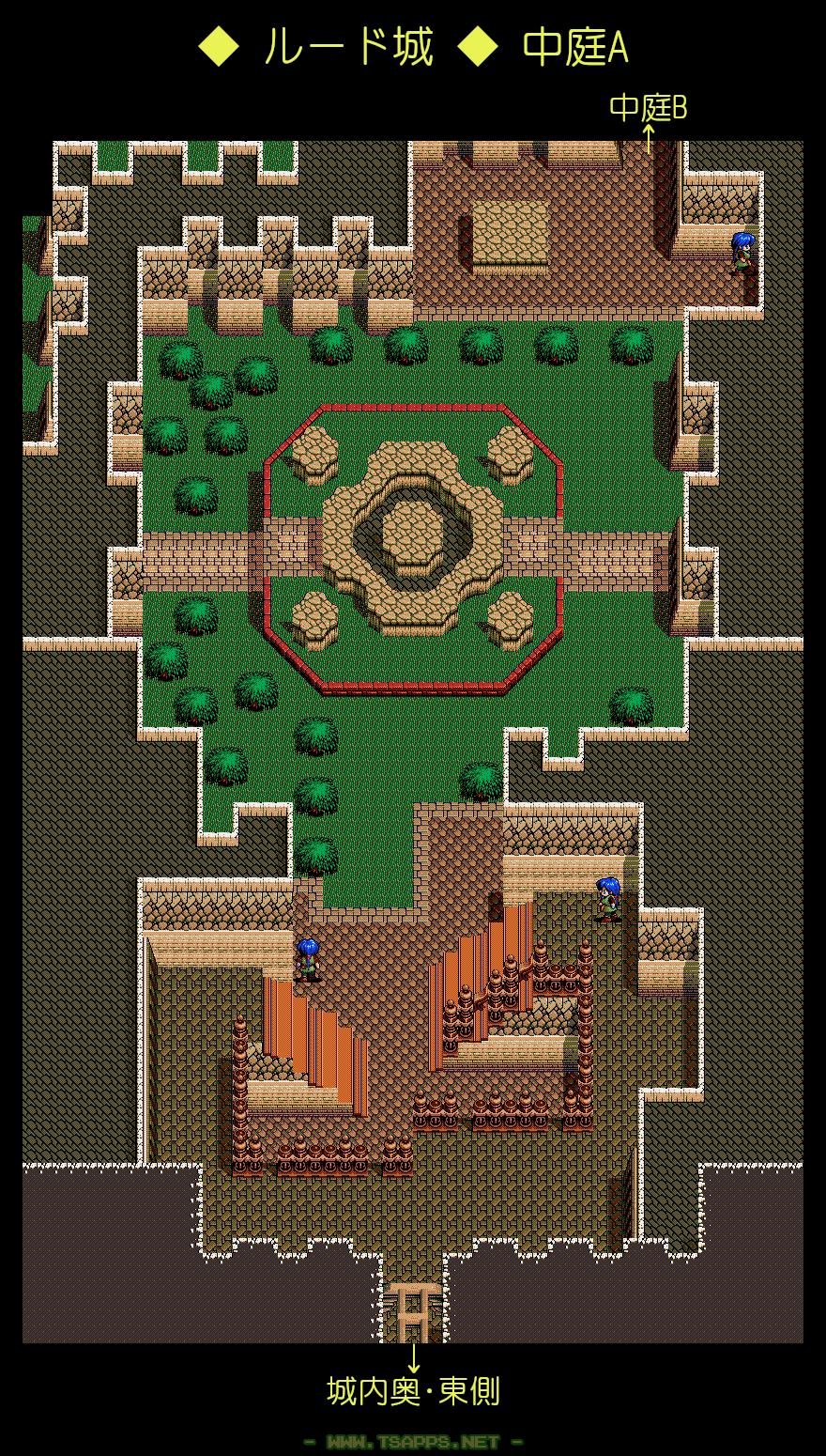ルード城・中庭A 全体マップ