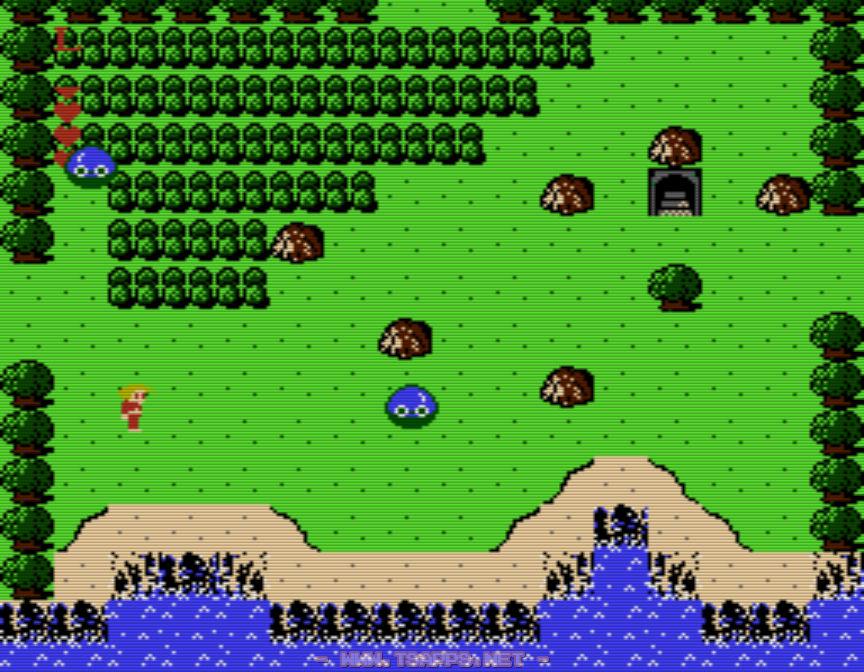 洞窟が見えてきたら無視して北へ
