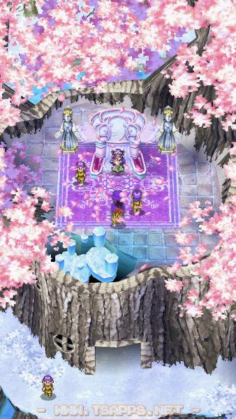 フルートを吹くと一斉に桜が開花!