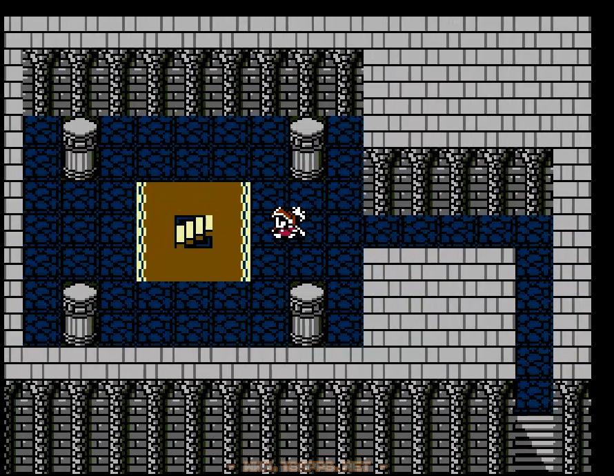 この階段を上るとサロニア城の地下へ
