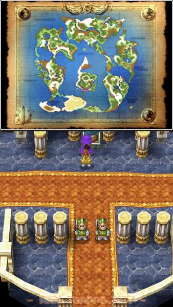 正面入口の近くで世界地図を見ることができます