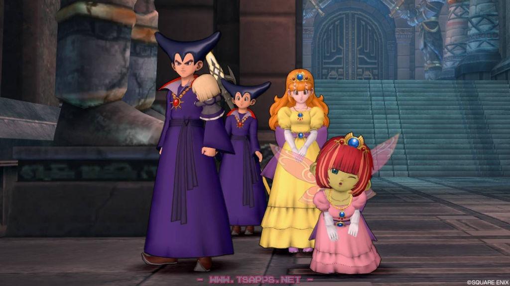竜王になったゴル&メリーナとピンクローラ姫のマリーヌ