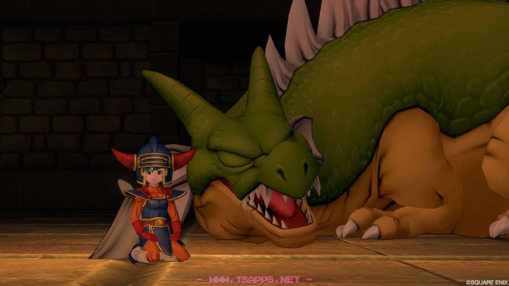 エルダムは眠るドラゴンの目の前で一休み