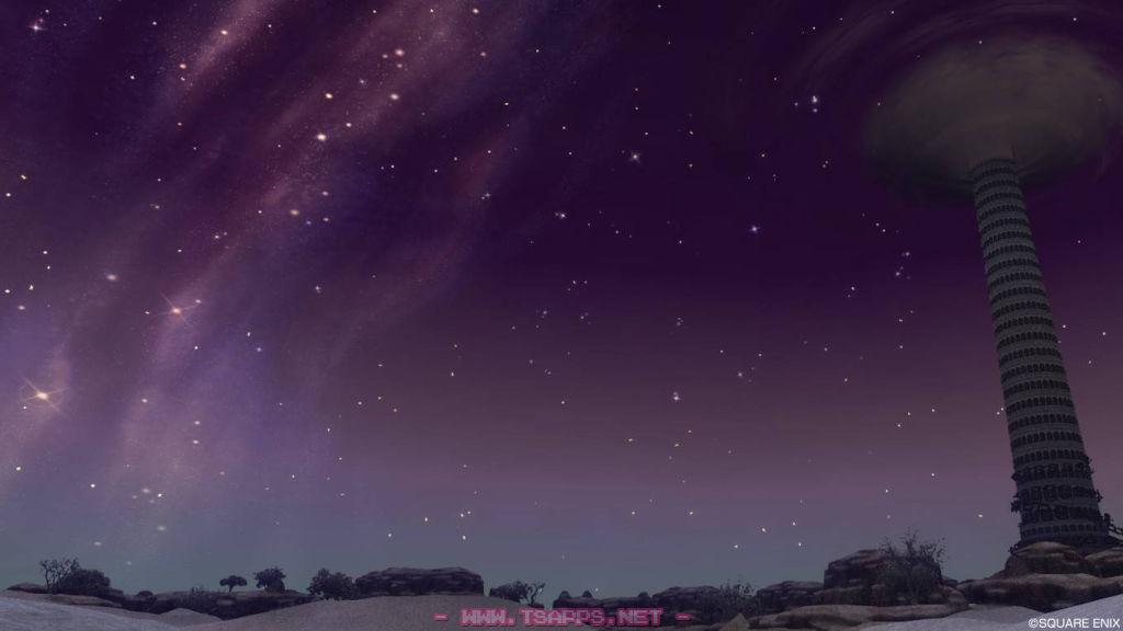デフェル荒野で満天の星空