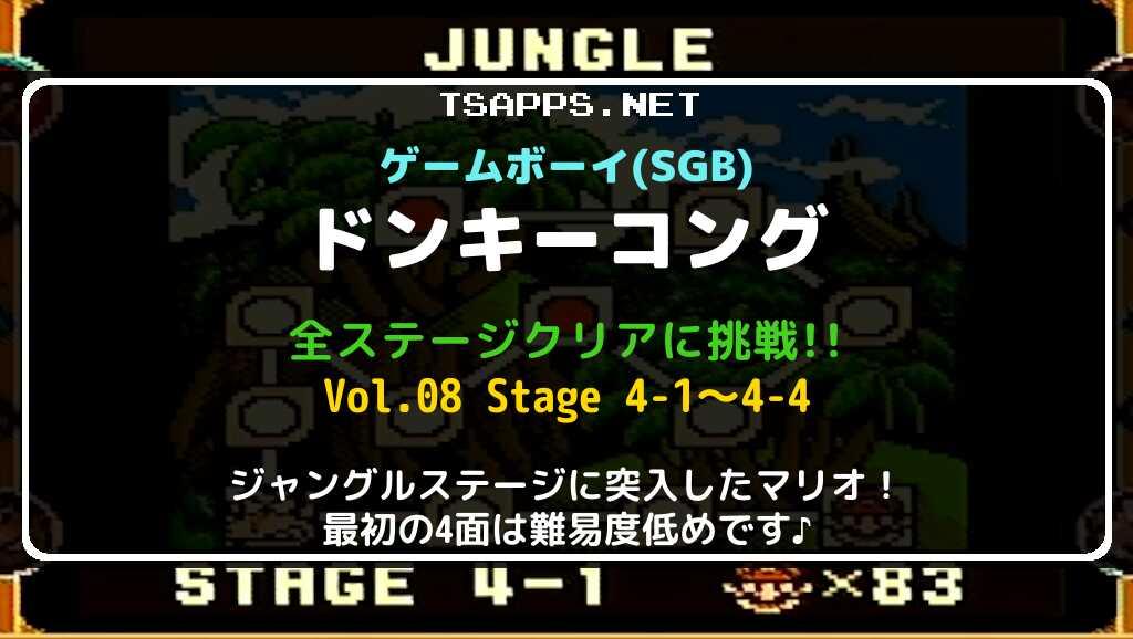 ゲームボーイ版ドンキーコング 全面クリアに挑戦 Vol.08