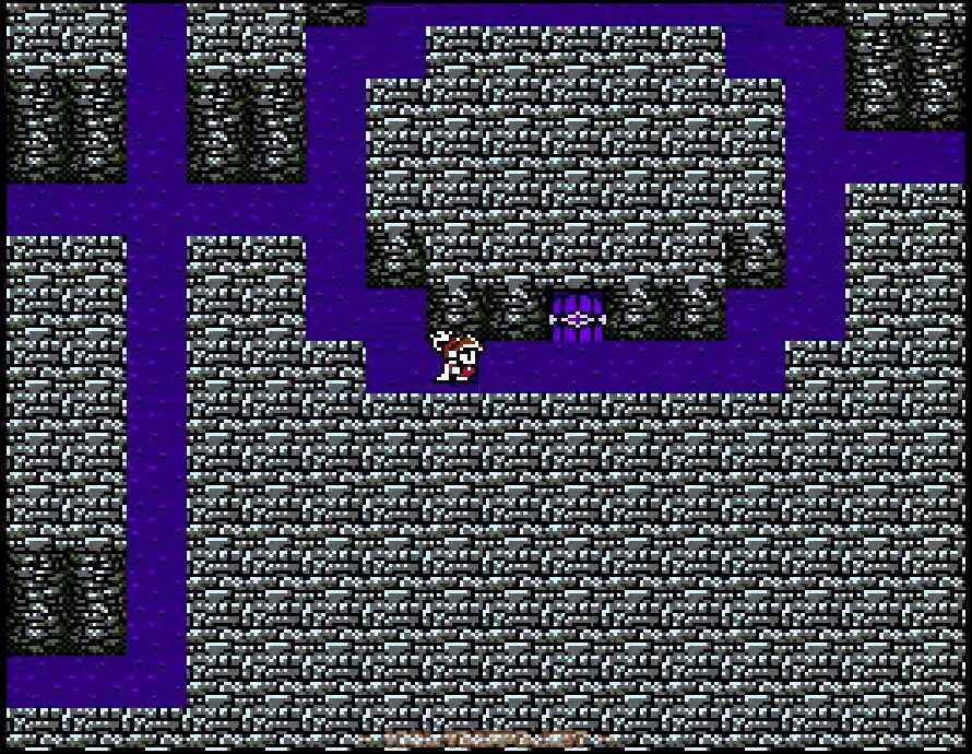 右側の部屋で宝箱を拾ったら東の通路から地下3階へ