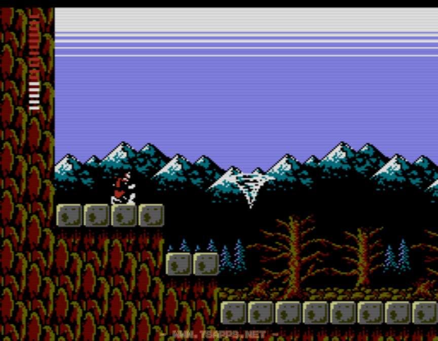 赤水晶を装備して崖の前でしゃがみ待つ