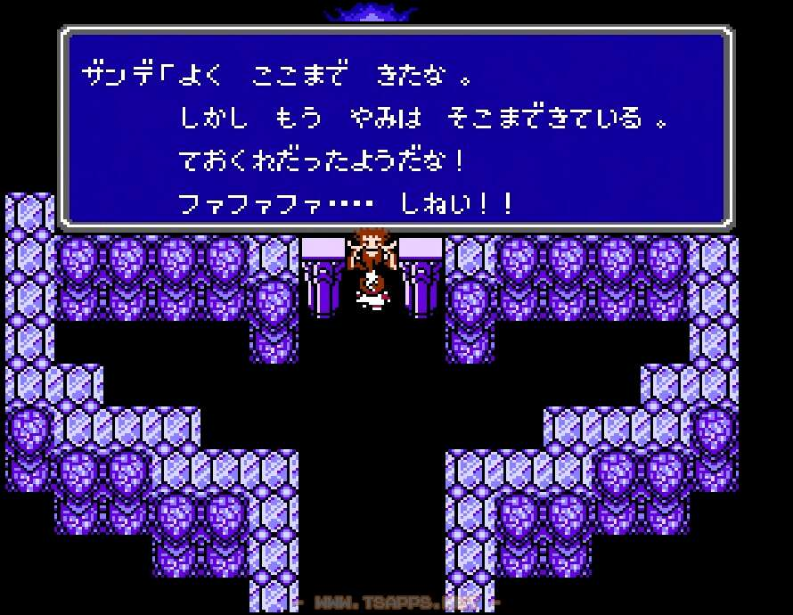 クリスタルタワー最上階で魔王ザンデと対決