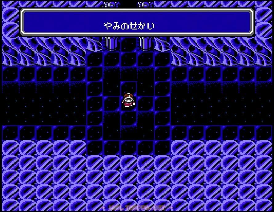 闇の世界到着!まずは左上の通路を抜けて階段へ