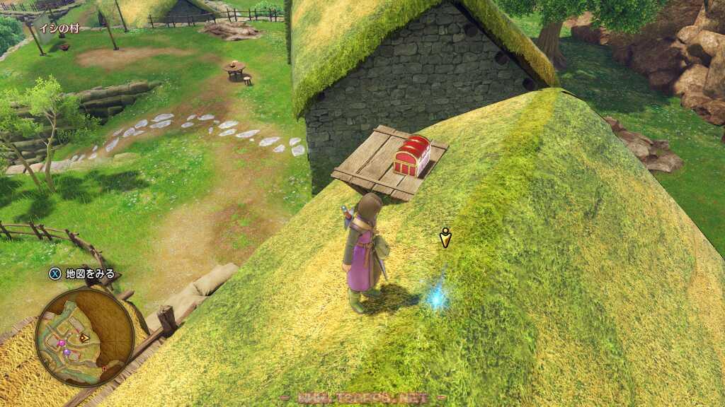 ジャンプで屋根にも上っちゃう