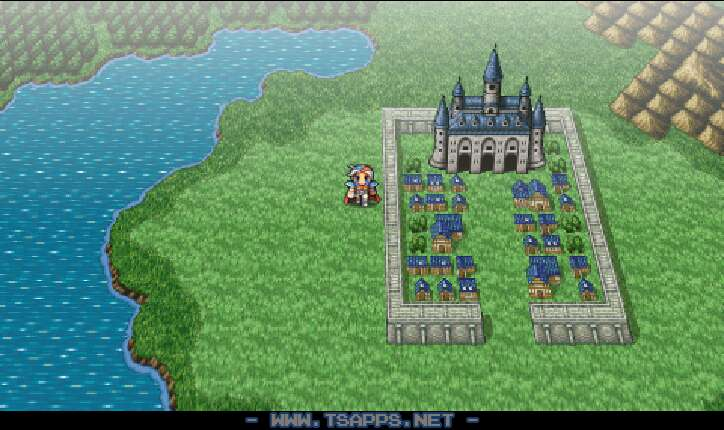 フィンの城と町が見えてきました