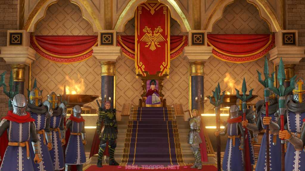 デルカダール王に会いに来た勇者