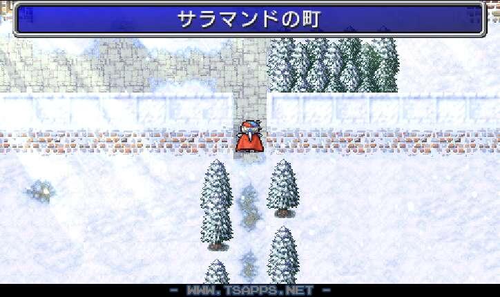 雪が積もって真っ白なサラマンドの町