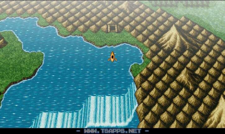 川を東に進めば洞窟があります