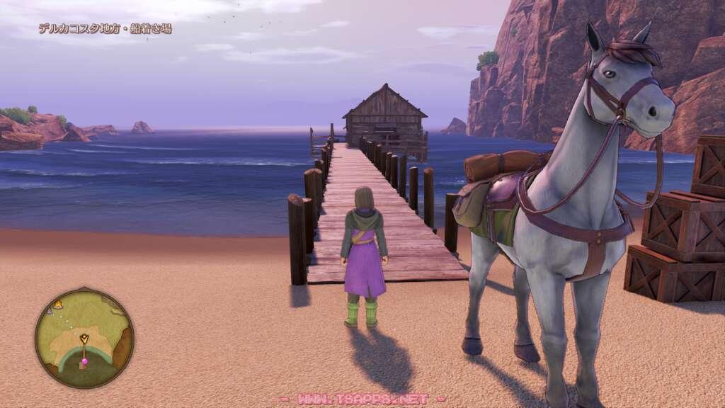 桟橋の向こうにある小屋へ立ち寄ってみた