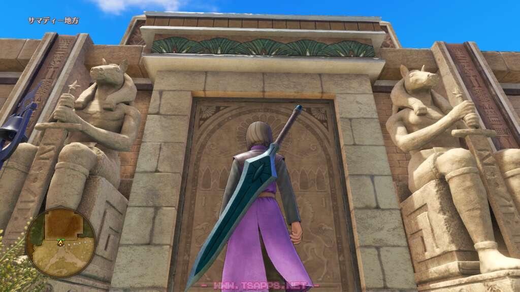 門を開けてサマディー城下町へ