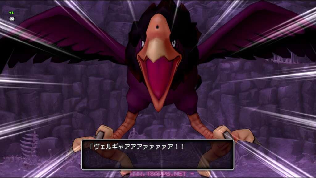 巨大な鳥モンスターが襲いかかる