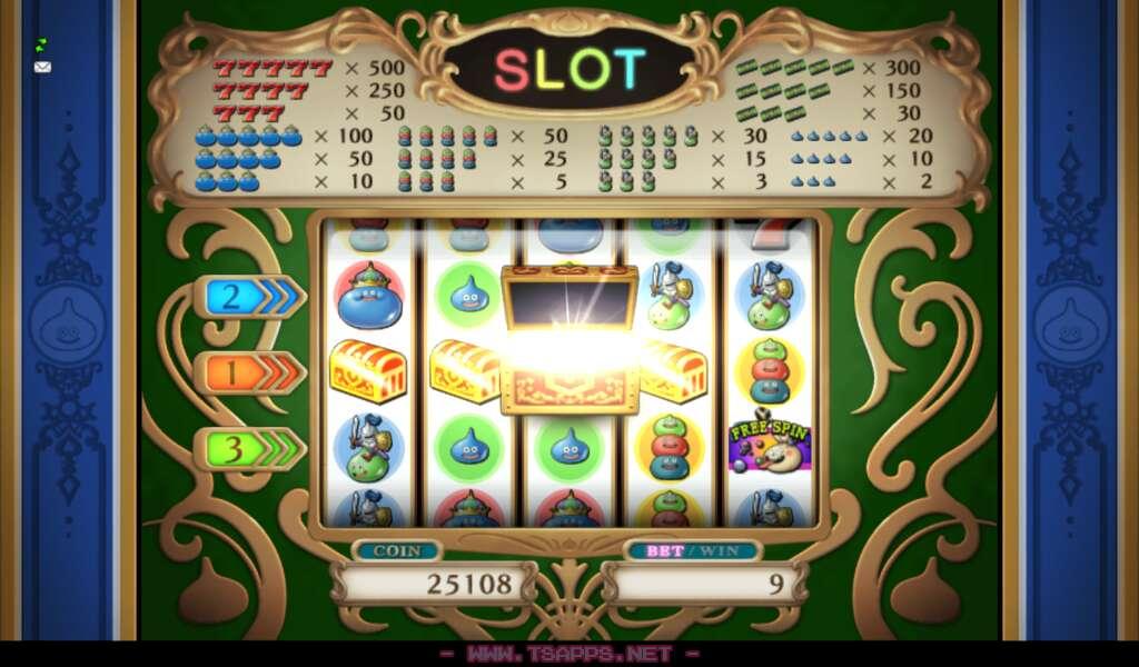 宝箱が3個以上揃うとカジノレイド発生
