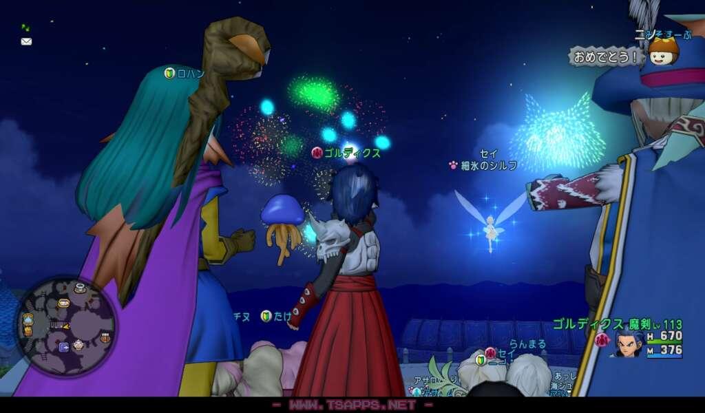 夜空に広がるたくさんの花火