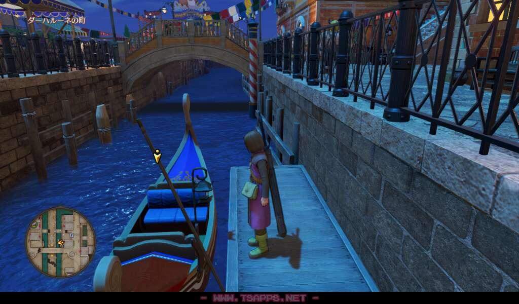 橋から飛び降りてゴンドラ乗り場へ
