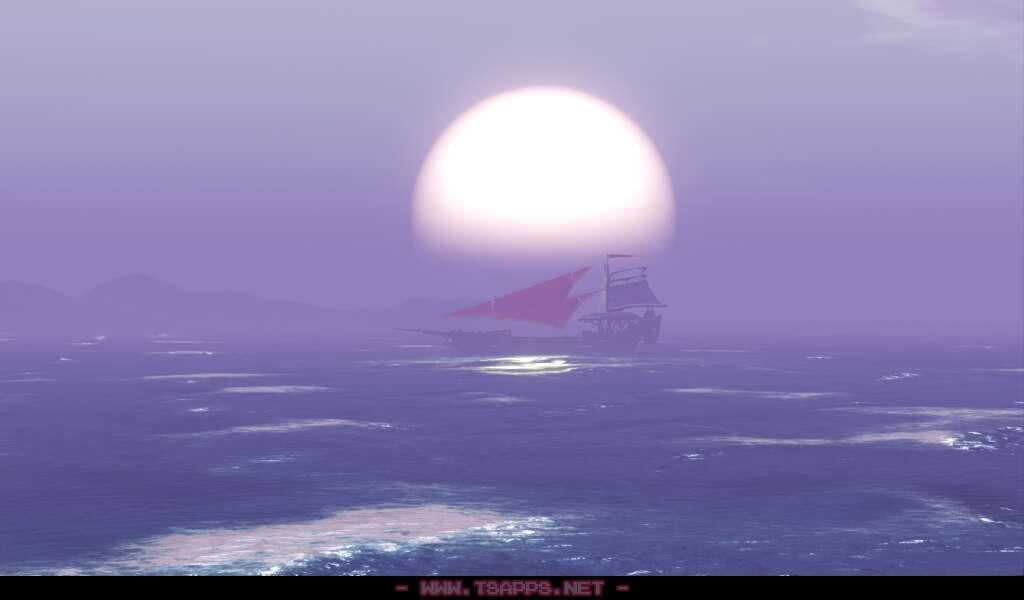 きれいな日の出!海の上から旅を再開
